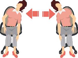 オフィスでのながら筋トレにおすすめの脇腹を鍛えるストレッチ