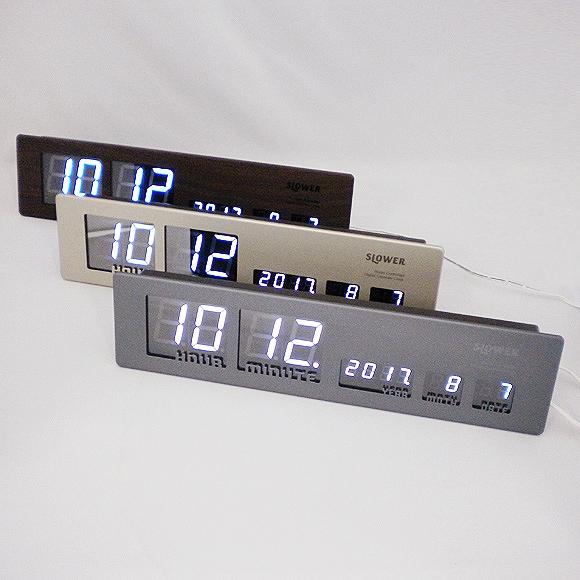 3位.メタルクロック掛け置き時計